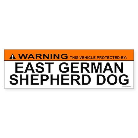 EAST GERMAN SHEPHERD DOG Bumper Sticker