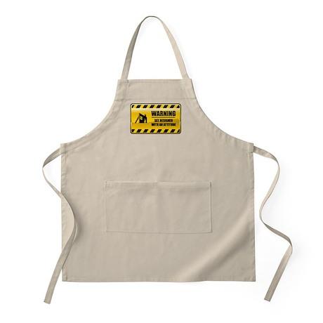 Warning Set Designer BBQ Apron