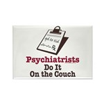 Funny Doctor Psychiatrist Rectangle Magnet (100 pa