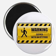 """Warning Server 2.25"""" Magnet (10 pack)"""