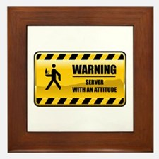 Warning Server Framed Tile