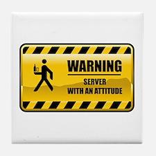 Warning Server Tile Coaster