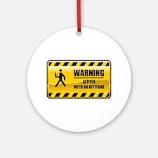 Warning Server Ornament (Round)
