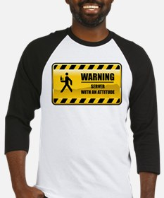 Warning Server Baseball Jersey