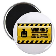 Warning Security Guard Magnet