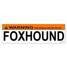 FOXHOUND Bumper Car Car Sticker