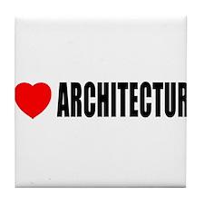 I Love Architecture Tile Coaster
