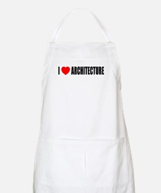 I Love Architecture BBQ Apron