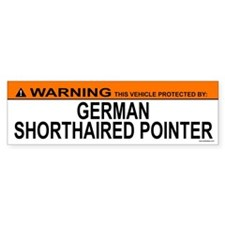 GERMAN SHORTHAIRED POINTER Bumper Car Sticker