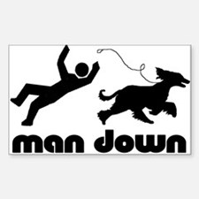 man down afghan Rectangle Decal