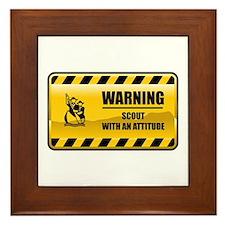 Warning Scout Framed Tile