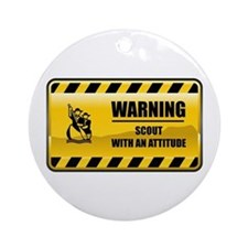 Warning Scout Ornament (Round)