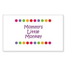 Mommy's Little Monkey Rectangle Decal
