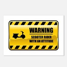 Warning Scooter Rider Postcards (Package of 8)