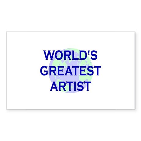 World's Greatest Artist Rectangle Sticker