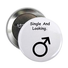 Male Single and Looking Button