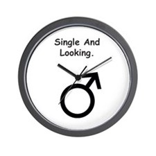 Male Single and Looking Wall Clock