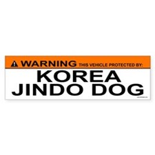 KOREA JINDO DOG Bumper Bumper Sticker
