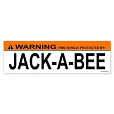 JACK-A-BEE Bumper Bumper Sticker
