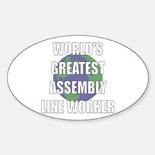 World's Greatest Assembly Lin Oval Decal
