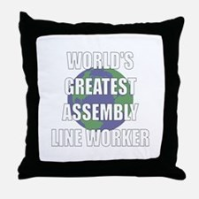 World's Greatest Assembly Lin Throw Pillow