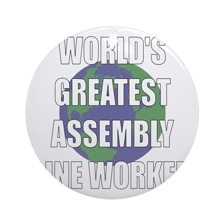World's Greatest Assembly Lin Ornament (Round)