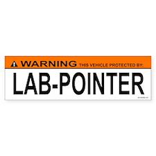 LAB-POINTER Bumper Bumper Sticker