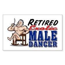 RETIRED MALE DANCER Rectangle Decal