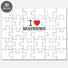 I Love MATHEWS Puzzle