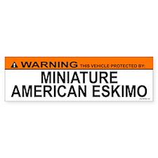 MINIATURE AMERICAN ESKIMO Bumper Bumper Sticker