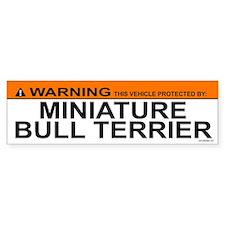 MINIATURE BULL TERRIER Bumper Bumper Sticker