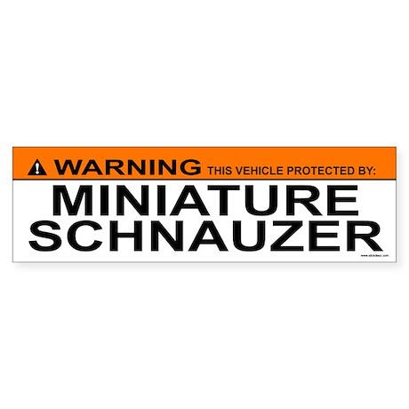 MINIATURE SCHNAUZER Bumper Sticker
