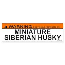 MINIATURE SIBERIAN HUSKY Bumper Car Sticker