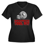REDNECK TOOL KIT Women's Plus Size V-Neck Dark T-S