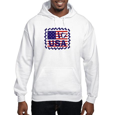I Heart USA Stamp Hooded Sweatshirt