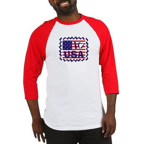 I Heart USA Stamp Baseball Jersey