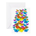 BUTTERFLIES, BUTTERFLIES! Greeting Cards (Pk of 10