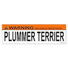 PLUMMER TERRIER Bumper Car Sticker