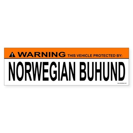 NORWEGIAN BUHUND Bumper Sticker