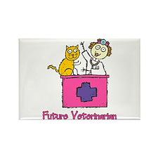 Future Veterinarian (girl) Rectangle Magnet