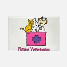 Future Veterinarian (girl) Rectangle Magnet