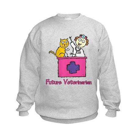 Future Veterinarian (girl) Kids Sweatshirt