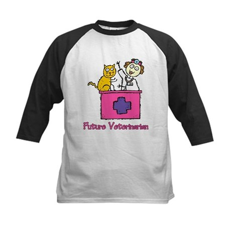Future Veterinarian (girl) Kids Baseball Jersey