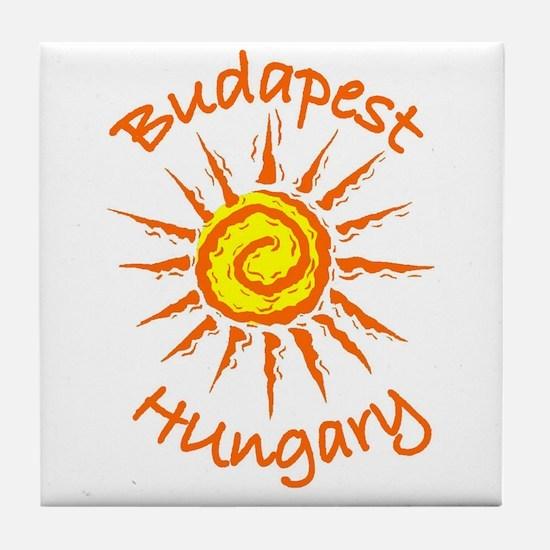 Budapest, Hungary Tile Coaster