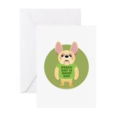 HUMP DAY Fr. Bulldog Greeting Card