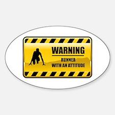 Warning Runner Oval Decal