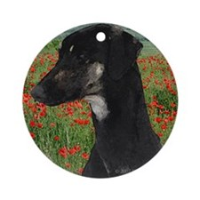 Soughi in Red Poppy Field Ornament (Round)