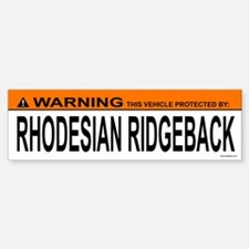 RHODESIAN RIDGEBACK Bumper Bumper Bumper Sticker