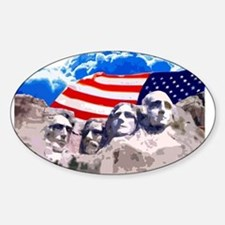 Mount Rushmore Oval Decal
