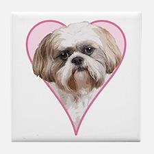 Heart Shih Tzu -  Tile Coaster